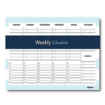 Horario semanal notepad- Mantenga su Agenda diaria y listas ...
