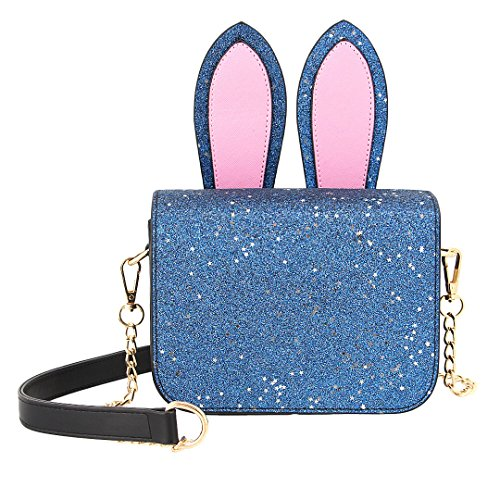 Evening Crossbody Handbag Fashionable Shiny Bag Purse Shoulder Candice Bag Blue Sequins Women 00325 Bag wAqnCpg