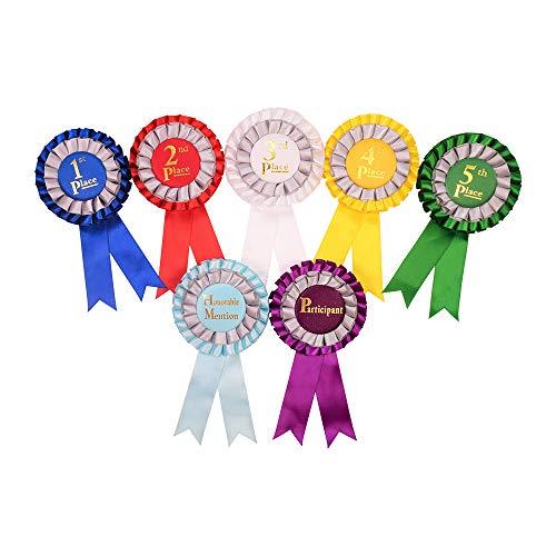 Award Ribbon Rosettes Office Premium School Supplies The Complete Set 7pcs Multicolor by SICI