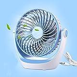 KTYX USB Mini Fan Rechargeable Portable Mini Portable Fan fan (Color : Blue)