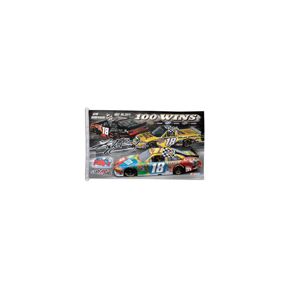KYLE BUSCH OFFICIAL NASCAR LOGO 3X5 BANNER FLAG  Sports Fan Outdoor Flags  Sports & Outdoors