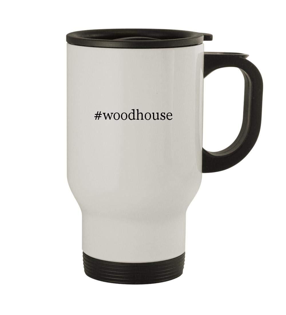 #woodhouse - 14oz Sturdy Hashtag Stainless Steel Travel Mug, White