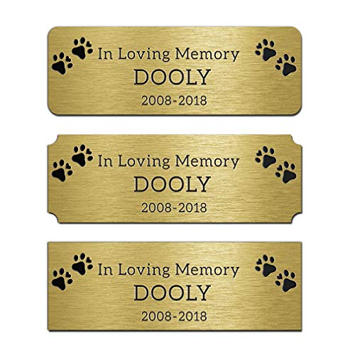 (JUOOE Solid Brass Golden Name Plate Deep Laser Engraving Tag 1