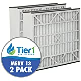 Ultravation 20x25x5 Merv 13 Replacement AC Furnace Air Filter (2 Pack)