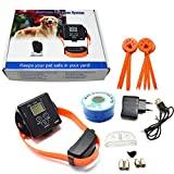 JK TECH Small Medium Large Dog Rechargeable Pet Fence System Waterproof Shock Dog Collar for 2 or 3 Dogs (One dog)