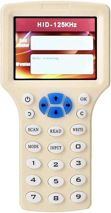 Cigopx Portable Handheld RFI-D I-D Card Copier Reader Writer Access Control Parking Card Duplicator Cloner