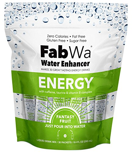 Fabwa Energy Water Enhancer, Fantasy Fruit, 30 Count