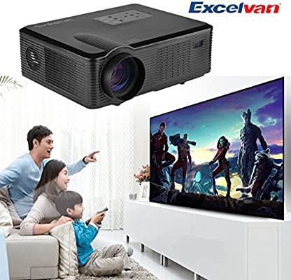 Excelvan® proyector 2400 Lúmenes HD LED/LCD para Home Cinema ...
