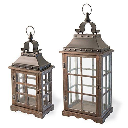 Boston International Decorative Lanterns, Set of 2, Medieval Mercer by Boston International