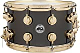 DW Collector's Series Metal Snare Drum 14 x 8 in. Black Nickel Over Brass with Gold Hardware
