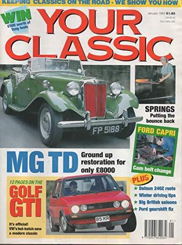 Your Classic Magazine, January 1993, (Incorporating Restoring Classic Cars and Classic Cars Mechanics Magazine)