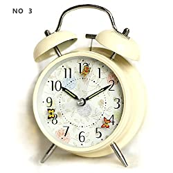hito 4 Silent Alarm Clock Flying Butterfly Battery Operated Night Light Extra Loud Alarm for Heavy Sleepers Kids