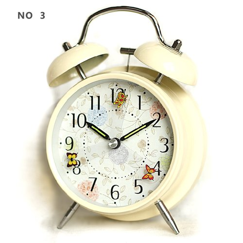 """hito 4"""" Silent Alarm Clock Flying Butterfly Battery Operated"""