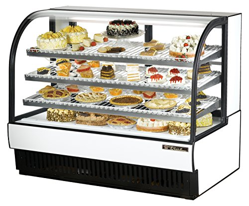True TCGR-59 Refrigerated Curved Glass Display, 59