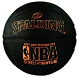 Basketballs Best Deals - Spalding 71023 NBA Street Phantom Outdoor Basketball, Neon Orange/Black, Size 7/29.5