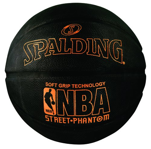 Spalding 71023 NBA Street Phantom Outdoor Basketball, Neon Orange/Black, Size 7/29.5'