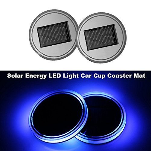Big Ant Light Sensor Solar LED Car Cup Holder Mat