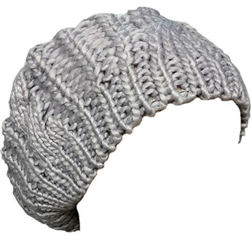 New Arrivals Lady Winter Warm Knitted Crochet Slouch Baggy Beret Beanie Hat Cap by Boolavard TM - Black, Red, Pink, etc. (New Beret Crochet)