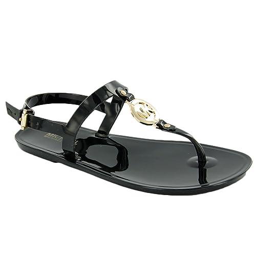 65466fad14c9c6 MICHAEL Michael Kors Women s MK Sondra Jelly Sandal Black 7 M  Amazon.ca   Shoes   Handbags