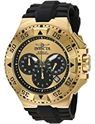 Invicta Mens Excursion Quartz Stainless Steel and Silicone Casual Watch, Color:Black (Model: 23042)