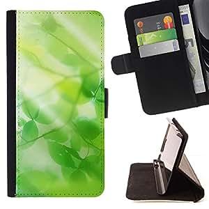 For Samsung ALPHA G850 Case , Naturaleza Hermosa Forrest Verde 14- la tarjeta de Crédito Slots PU Funda de cuero Monedero caso cubierta de piel