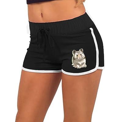 91fd7705b7 Women Summer Athletic Drawstring Shorts Hamster Retro Running Yoga Gym  Workout Pants