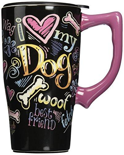 """Spoontiques""""Dog chalkboard"""" Travel Mug, Multicolor"""
