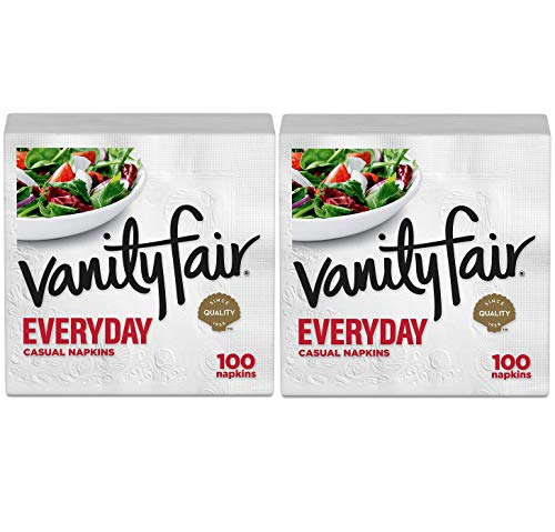 Vanity Fair Everyday Napkins, White - White - 100 ct - 2 pk