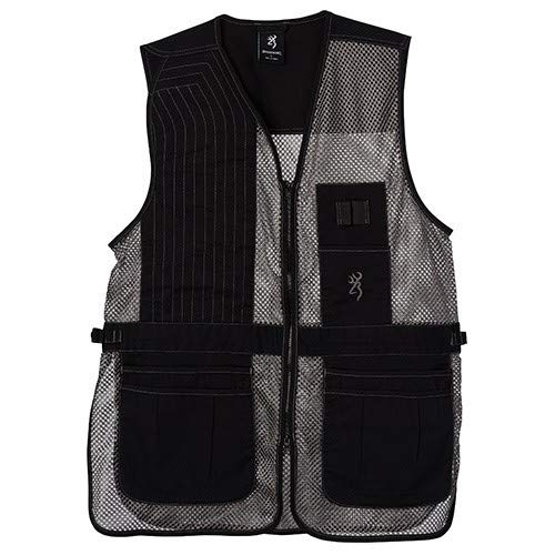 Browning, Trapper Creek Mesh Shooting Vest, Black/Gray, Medium, Right Hand