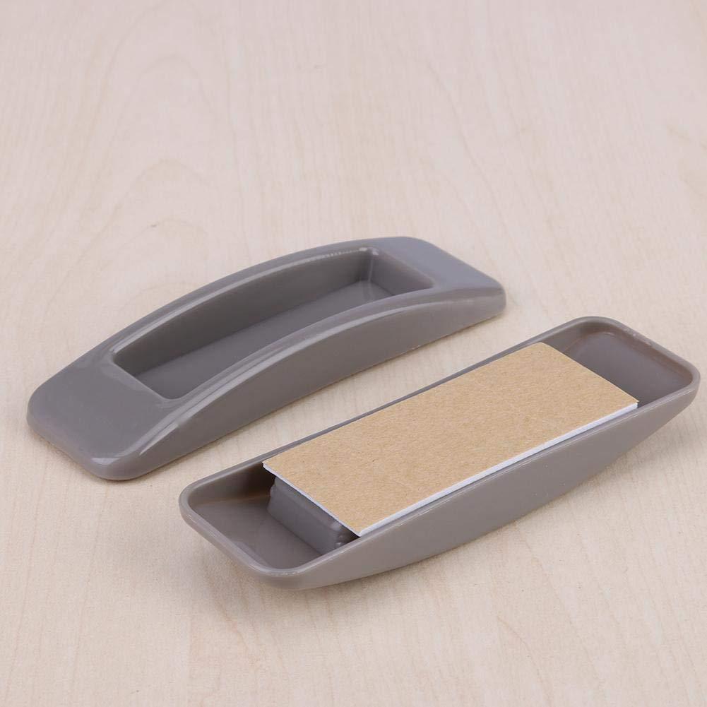 Alloet 2pcs Self-Adhesive Sliding Door Handles Interior Window Pull Knobs Grey