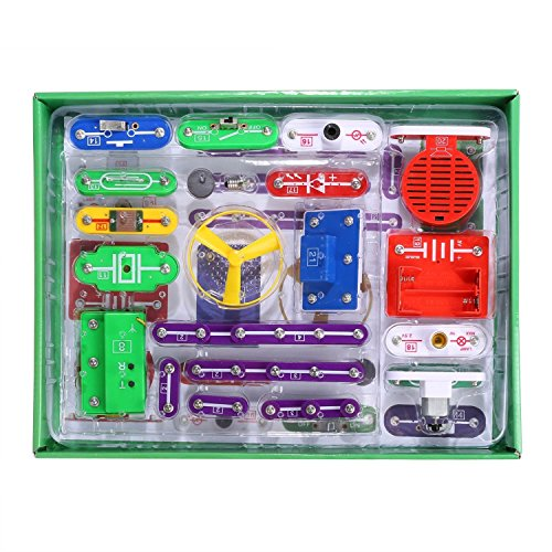 W-335 DIY Educational Electronic Building Blocks Set for Circuits Smart Electronic Discovery, 8+ Years Old