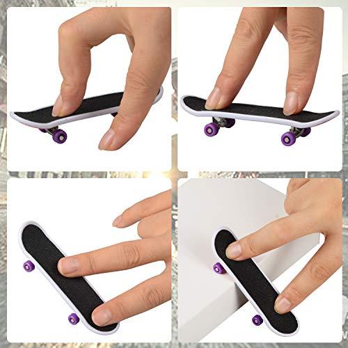 TIME4DEALS Finger Skateboard Park 8pcs Skate Park Kit Ramp Parts, Mini Fingerboard Rails Starter Kit with 3 fingerboards & 5 Silicone Mat Set by TIME4DEALS (Image #4)