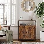 VASAGLE Storage Cabinet, Multipurpose Cabinet, Sideboard, Adjustable Shelves, Slat Door, Steel Frame, for Living Room…