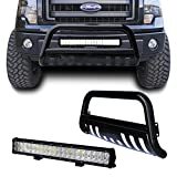 f150 brush guard - Black Bull Bar Bumper Grille Guard for 04-14 Ford F150/03-15 Ford Expedition with 4D Lens 20inch 126W Led Light Bar +Free Wiring Harness