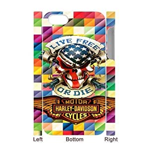 iphone4 4S 3D Cell Phone Case White Harley Davidson Plastic Durable Cover Cases derf6000459