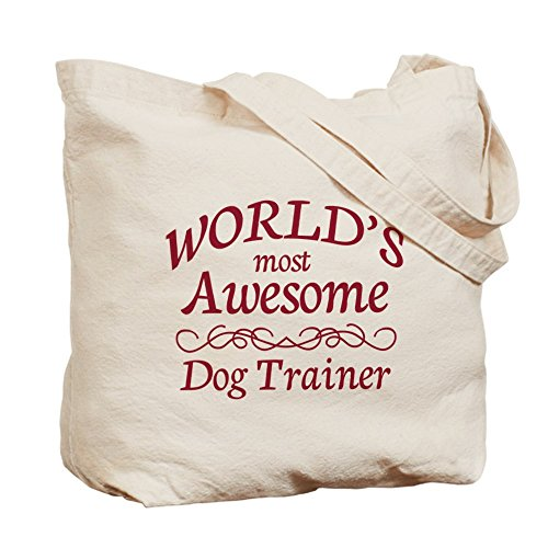 CafePress–asombroso perro entrenador–Gamuza de bolsa de lona bolsa, bolsa de la compra Small caqui