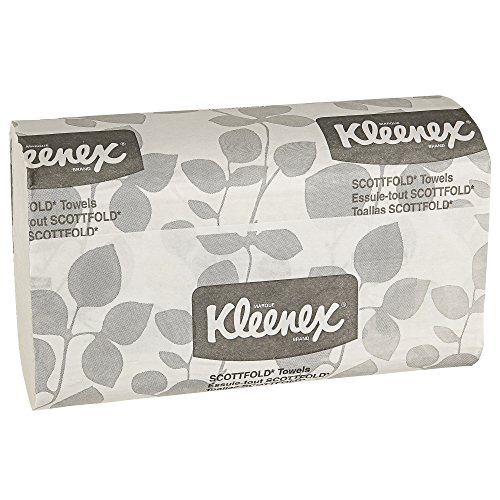 Kleenex Scottfold Multifold Paper Towels (13253) with Fast-Drying Absorbency Pockets, White, 25 Packs / Case, 120 Trifold Towels / Pack, 3,000 Towels / Case (Scottfold C-fold Paper Towels)