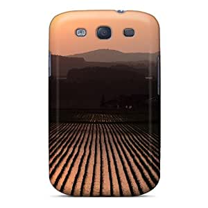 High Impact Dirt/shock Proof Case Cover For Galaxy S3 (rice Fields At Sunset)