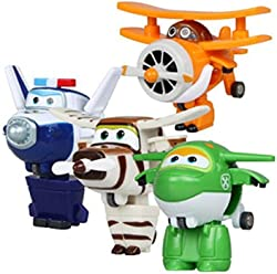 ADB Inc 2016 New Mini Planes Super Wings Action Figures Transformation Robot Toys Planes 4pcs/