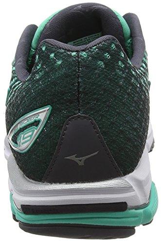 Mizuno Wave Rider 19 (W) - Zapatillas de running Mujer Green (Electric Green/Silver/Periscope)