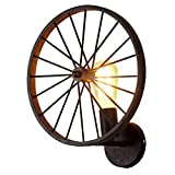 BAYCHEER HL410766 Industrial Vintage Retro style Wheel Wall Lamp Wall Sconce for Balcony Living Room Dining Wall Lamp Hotel 1 Light, Bronze
