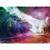 Colorful Waves Mural Wall Decal