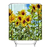 "Art Design Shower Curtain (beautiful sunflower)Shower Curtain for Bathroom Print Polyester Waterproof Shower Curtains 72""W X 72""L Inch"