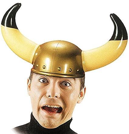 Carnival Toys Sombrero casco con cuernos vikingos vikingo plástico
