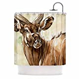 Kess InHouse Wildlife Africa 1 Brown Animals Shower Curtain (69x70)