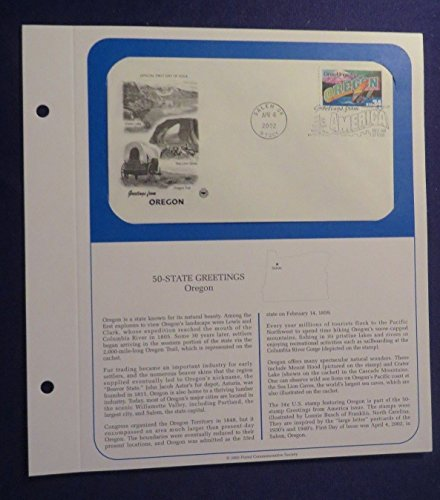 Unbranded PCS Apr 4, 2002 50-STATE GREETINGS 1st Day Issue Cover OREGON