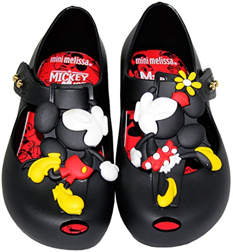 Melissa Girls Mini Ultragirl + Disney Sandal, Black, Size 11 M US Little Kid