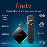Fire TV with 4K Ultra HD and Alexa Voice Remote (1st Gen), streaming media player