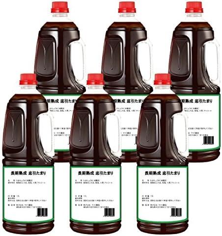 [スポンサー プロダクト]半田の旨味家 長期熟成 底引 たまり醤油 1.8L × 6本 化学調味料無添加