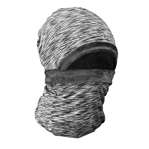 (Headgear Men's Warm Thickened Velvet Female Winter Riding Mask Motorcycle Windproof Hat Face Mask (Color :)